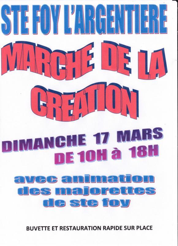 Affiche marche de la creation ste foy l a 17 mars 20