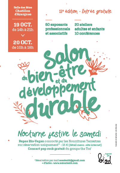 Affiche salon be2d 2019