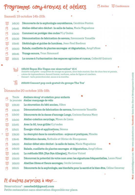 Affiche salon be2d 2019 programme