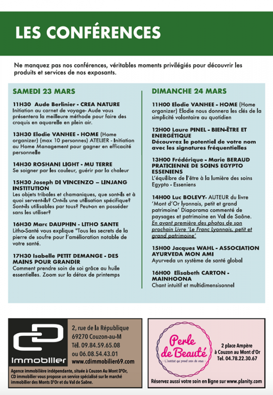 Affiche salon couzon conferences