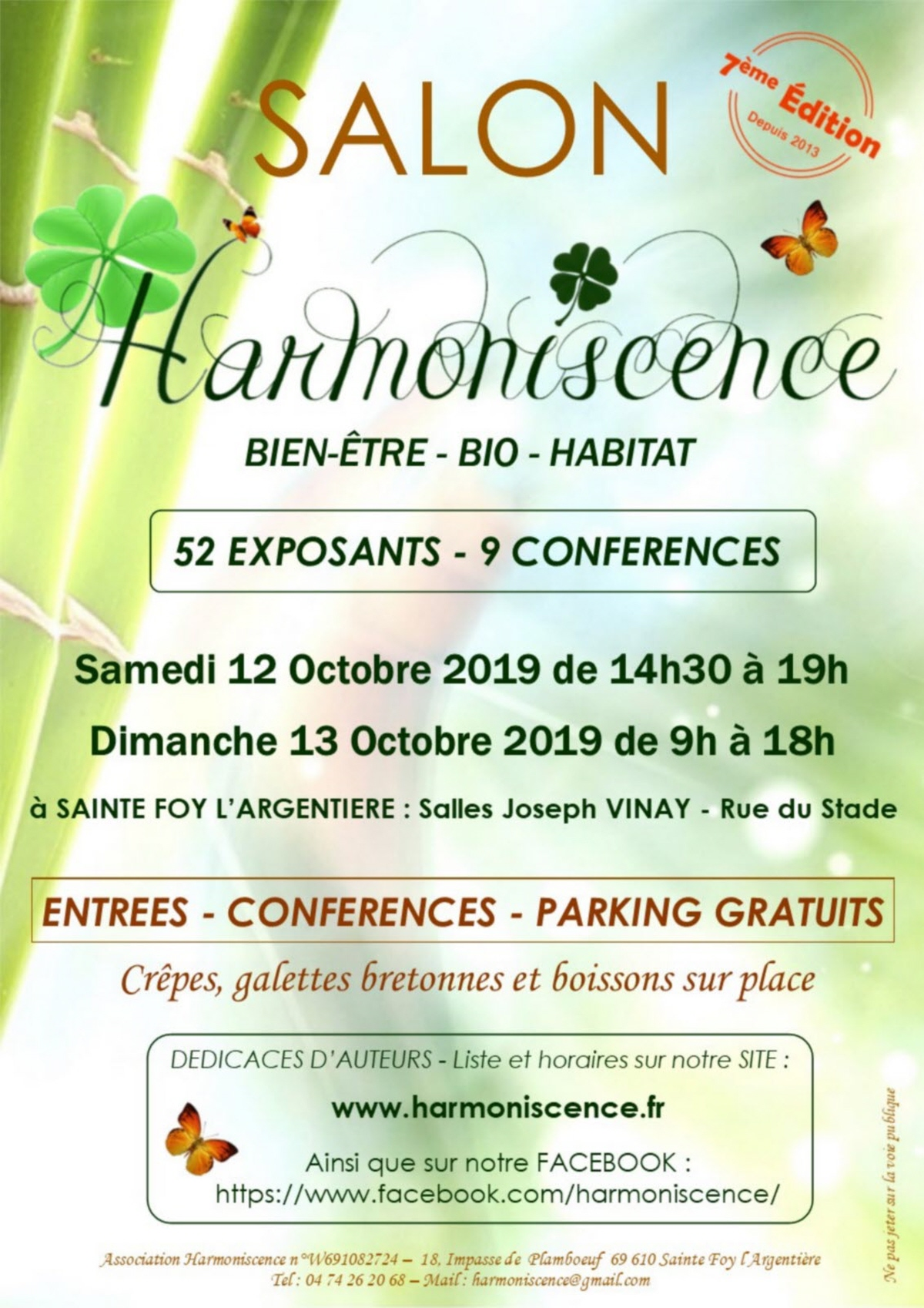 Affiche salon harmoniscence 2019