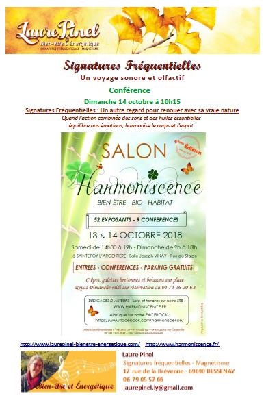 Affiche sf salon harmoniscence 2018
