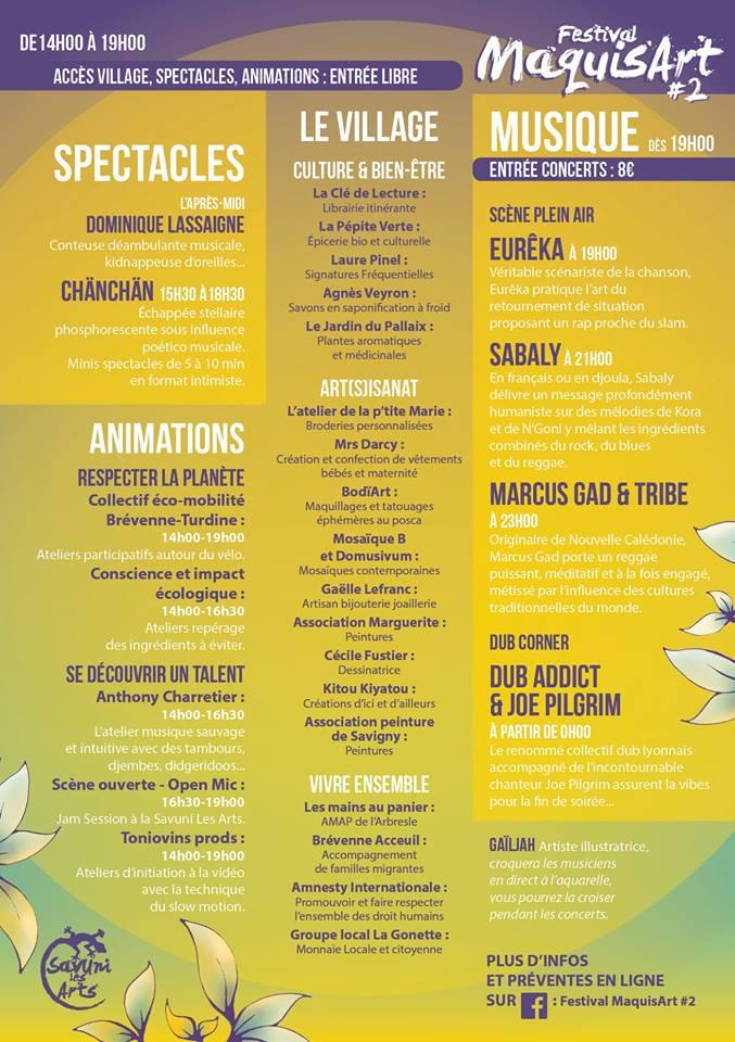 Festival maquisart2 21juil programme