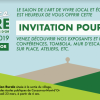 Invitation salon tendance nature