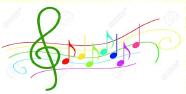 Notes de musique couleur